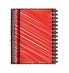 Color crayon stripe image notebook spiral closed vector