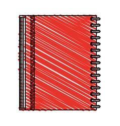 color crayon stripe image notebook spiral closed vector image