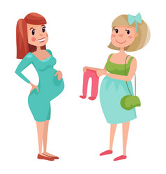 Pregnancy motherhood people expectation concept vector