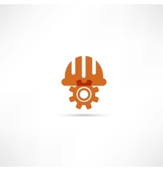 Orange setting buttons icon vector image