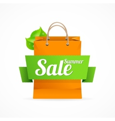 Shopping bag with SALE on ribbon vector image