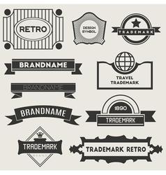 Retro vintage logotypes vector