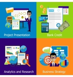 Concept business strategy analytics and research vector