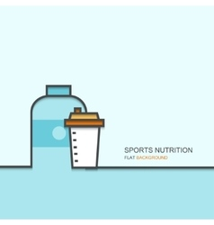 Outline flat design of sports nutrition vector