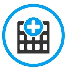 Hospital rounded icon vector