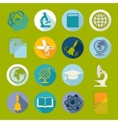 Set of education icons vector