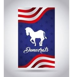 Democrat party design vector image