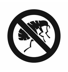 Etching insect icon simple style vector