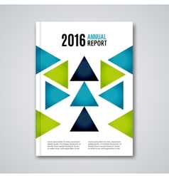 Cover flyer report colorful triangle geometric vector