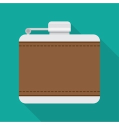 Flask for alcohol vector