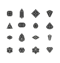 Crystal icons design vector
