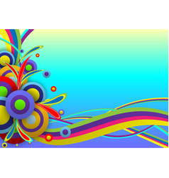 abstract background color festival template vector image vector image
