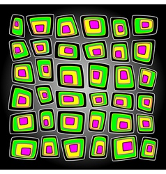 Acid square vector image vector image