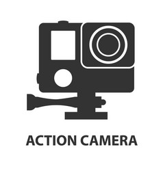 Action camera logo camera for active sports vector
