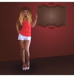 Beautiful fashion blonde girl vector