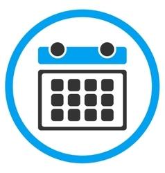 Calendar month circled icon vector