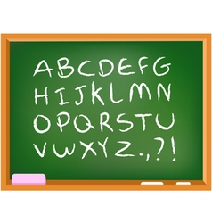 Chalkboard alphabet vector