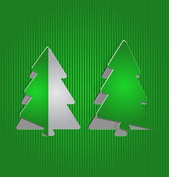 Christmas cutout paper tree minimal background vector