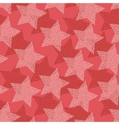 Christmas Stars seamless pattern vector image vector image