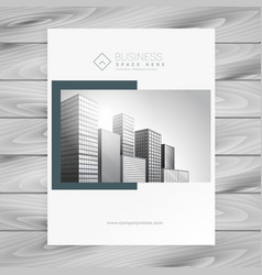 Company magazine cover presentation template vector