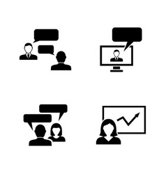 consulting simple related icons vector image vector image