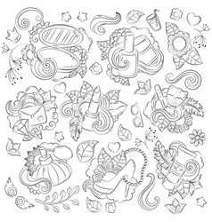 doodle hand drawn abstract background vector image