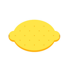 Flat design lemon isolated on white background vector