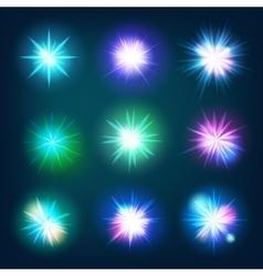 Glow light effect stars bursts eps 10 vector