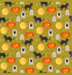 Halloween concept seamless pattern vector