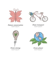 Hand drawn ecology vector image