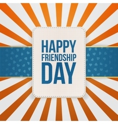 Happy friendship day sale special tag vector