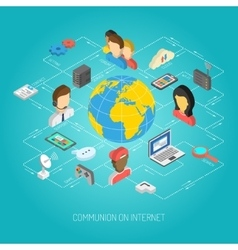 Internet Concept Isometric vector image
