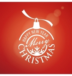 logo Christmas vector image