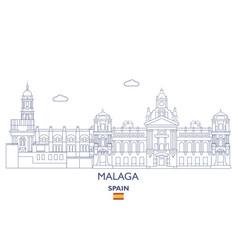 Malaga city skyline vector