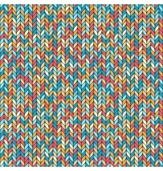 Melange knitted seamless background pattern vector