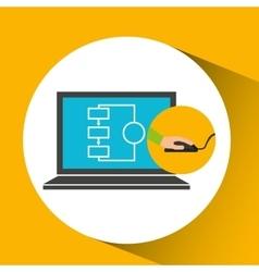 Programer software laptop technology vector
