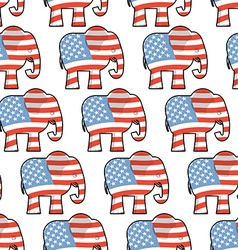 Republican Elephant seamless pattern Elephant vector image