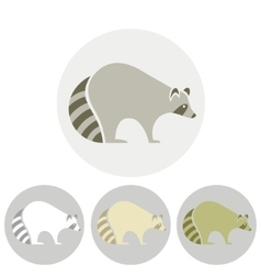 Stylized silhouette of a raccoon vector image vector image