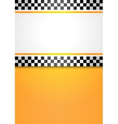 taxi cab blank background vector image vector image