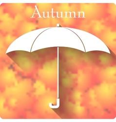 Umbrella icon on autumn background vector
