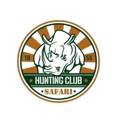 Wild hunting sport sign vector