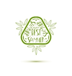 Hello Best Summer stamp vector image