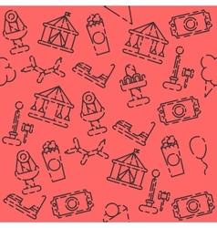 Amusement park pattern vector image