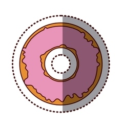 Isolated donut decorated design vector