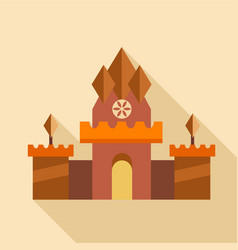 ancient castle icon flat style vector image