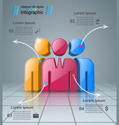 people icon business infographics vector image