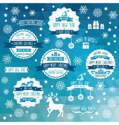 Set of creative christmas badges vector