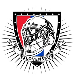 Slovakia ice hockey helmet shield vector