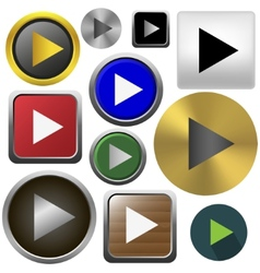 Play button set vector