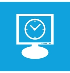 Clock monitor icon vector